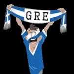 bufandas de fútbol (GU) Pegatina 3