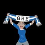 bufandes de futbol (G-U) etiqueta engomada 4
