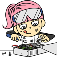 Hacker Girl Sticker 21