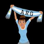 Футбол шарфи (A-F) наклейка 28