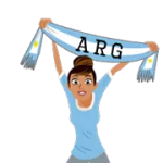 Fodbold Tørklæder (A-F) Klistermærke 28