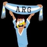 Футбол шарфы (A-F) наклейка 29