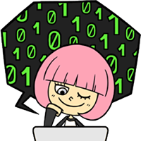Hacker Girl Sticker 30