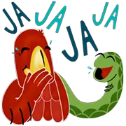 Eagle And Snake Sticker 8