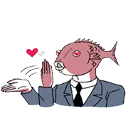 Forretning Fish Sticker 2