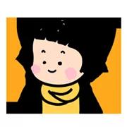 Mobile Girl MiM Sticker 11