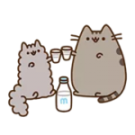 Pusheen Eats Etiqueta 1