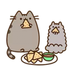 Pusheen Santapan Sticker 2