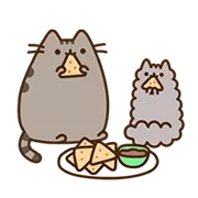 Pusheen Eats Sticker 2