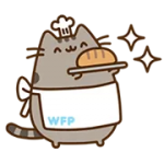 Pusheen Santapan Sticker 4