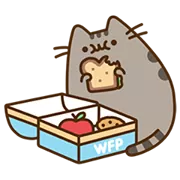 Pusheen Eats Sticker 9