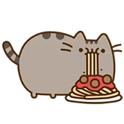 Pusheen Eats Sticker 12