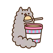 Pusheen Eats Sticker 18