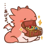 Yuttari Dragon Sticker 5