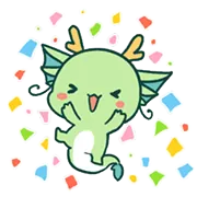 Yuttari Dragon Sticker 7