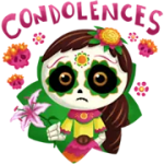 Dia De Els Muertoons Sticker 2