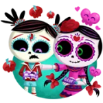 Dia De Els Muertoons Sticker 5