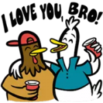 Partito Fowls Sticker 4