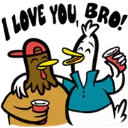 Party Fowls Sticker 4