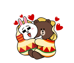 Brown & Cony's Snug Winter Date Sticker 2