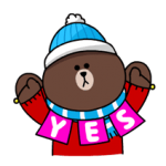 Brown & Cony's Snug Winter Date Sticker 3