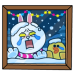 Brown & Cony's Snug Winter Date Sticker 5