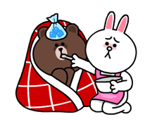 Brown & Cony's Snug Winter Date Sticker 6