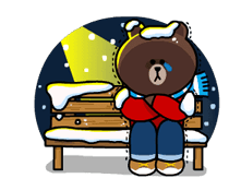 Brown & Cony's Snug Winter Date Sticker 7
