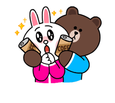 Brown & Cony's Snug Winter Date Sticker 8