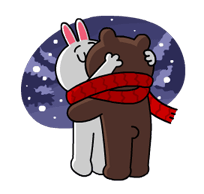 Brown & Cony's Snug Winter Date Sticker 12