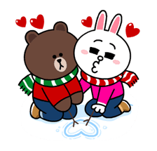 Brown & Cony's Snug Winter Date Sticker 13