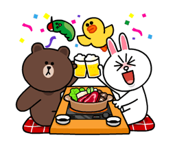 Brown & Cony's Snug Winter Date Sticker 15