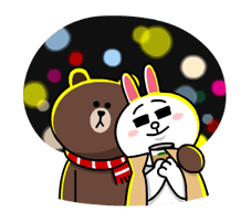 Brown & Cony's Snug Winter Date Sticker 16