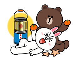 Brown & Cony's Snug Winter Date Sticker 18