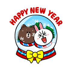 Brown & Cony's Snug Winter Date Sticker 21