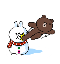 Brown & Cony's Snug Winter Date Sticker 22