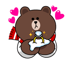 Brown & Cony's Snug Winter Date Sticker 23