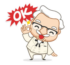 Colonel Sanders Sticker 18