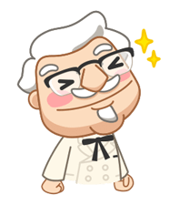 Colonel Sanders Sticker 28