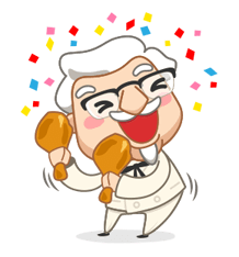 Colonel Sanders Sticker 30