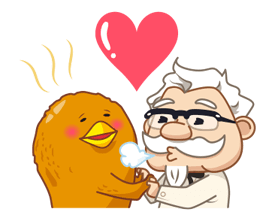 Colonel Sanders Sticker 2