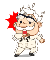 Colonel Sanders Sticker 12