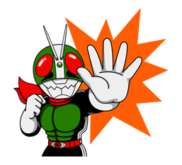 Masked Rider Sticker 23