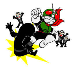 Masked Rider Sticker 27
