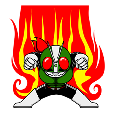 Masked Rider Sticker 39