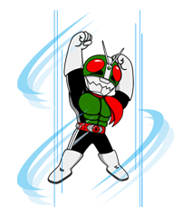 Masked Rider Sticker 42