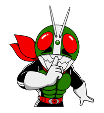 Masked Rider Sticker 4