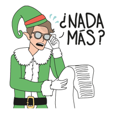 Sticker Edition Modern Pueblo Kerstmis 8