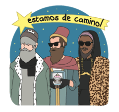 Sticker Edition Modern Pueblo Kerstmis 13