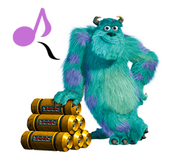 Monsters Inc Sticker 40